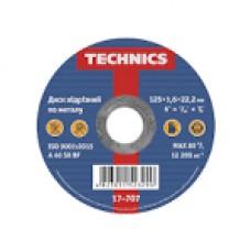 17-707 Диск відрізний по металу 125*1,6*22 Technics