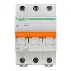 11225 Автоматичний вимикач 3п 25А ВА63 С SCHNEIDER