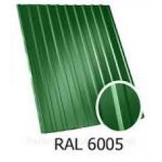 Профнастил ПС-10 6005 глян 0,4 зелен.