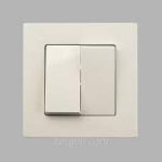 Вимикач  2-клав.білий  Eqona