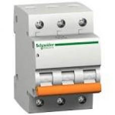 11229 Автоматичний вимикач 3п 63А ВА63 С SCHNEIDER