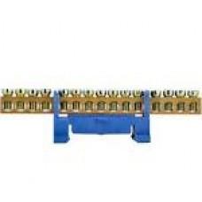 Нульова шина 6*9  15 отв.з ізолятором на дін рейку ВС-515