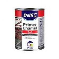 DELFI Грунт-Емаль 3в1 чорна 0,9кг