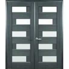 Полотно дверне ПІАНА ПВХ ясень 200*80см + скло