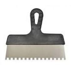 05-446 Шпатель нерж 250мм зуб 6*6мм