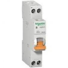 12525 Диф.автоматичний вимикач  АД63К 1П+Н 32А С SCHNEIDER30мА 18мм
