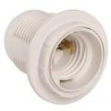 Патрон Е27 підвісний пластик,білий