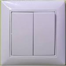 Вимикач 2-ий  , білий  Chinar 929-08-102