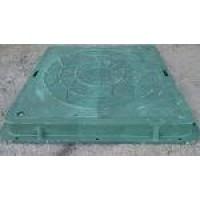 Люк садовий квадратний 710х710*50 зелений