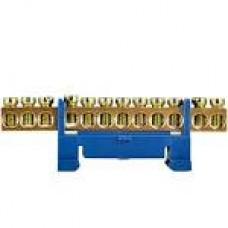 Нульова шина 6*9  12 отв. з ізол. на дін рейку ВС-512
