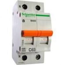 11214 Автоматичний вимикач 2п 20А ВА63 С( 1П+Н) SCHNEIDER