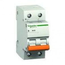 11219 Автоматичний вимикач 1П+Н 63А ВА63 С SCHNEIDER