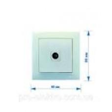 Вимикач VELENA Right Hausen 1-й внутр.перехрресний білий HN-011191