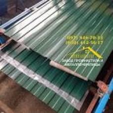 Гладкий лист, полимер 6005 мат (зелений)