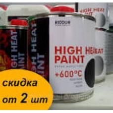Жаростійка фарба 600*С Чорна 0,2л. BIODUR