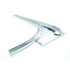 Засув гаражний L=160мм з пластиковую ручкою на пружині