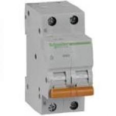 11213 Автоматичний вимикач 2п 16А ВА63 С SCHNEIDER