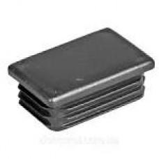 Заглушка прямокутна пластмасова 30х50 чорна