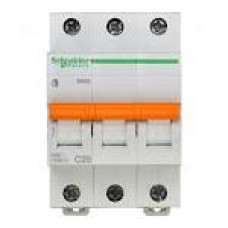 11224 Автоматичний вимикач 3п 20А ВА63 С SCHNEIDER