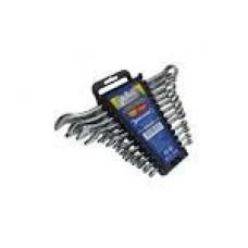 48403 Набір ключів ріжково-накидних 6-22мм Cr-V 12шт в чохлі Сталь