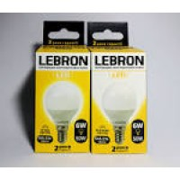 00-10-15  E27 Лампа LED  12W L-A60  куля 3000K 220V 1050Lm LEBRON
